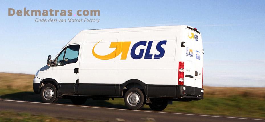 Dekmatras.com verzendt met GLS