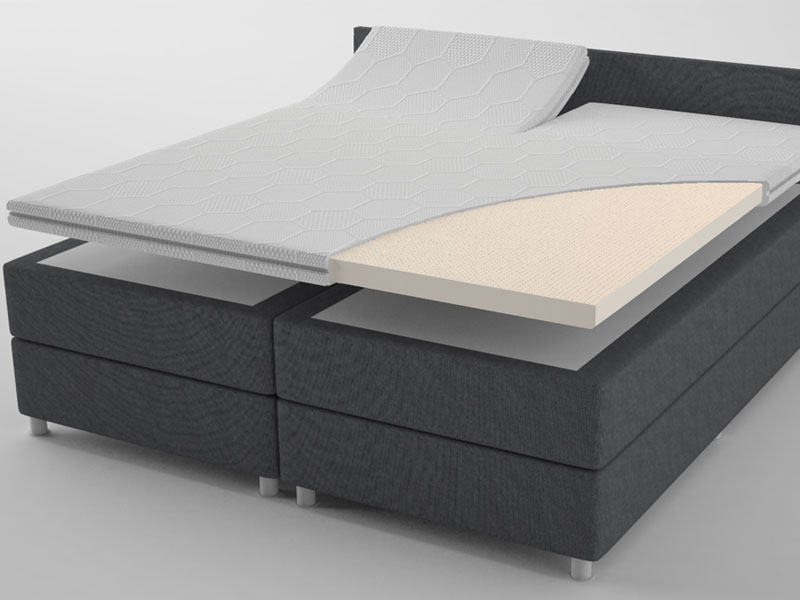 Talalay ® Latex topmatras met Split 200x220