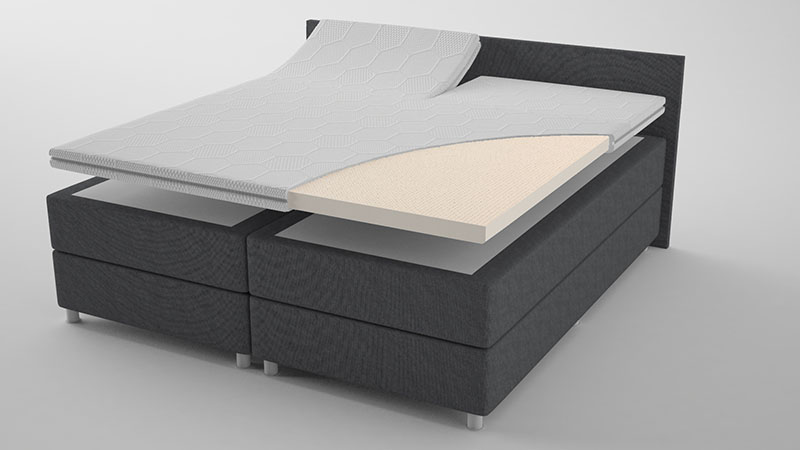 Talalay® Latex topdekmatras 'Supreme' met Split 130x200